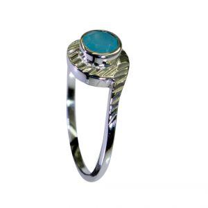 Buy Riyo Aqua Chalcedony Silver Lady Jewelry Big Silver Ring Sz 8 Srach8-4023 online