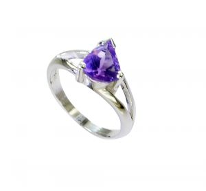 Buy Riyo Amethyst Childrens Silver Jewellery Mourning Ring Sz 5 Srame5-2159 online