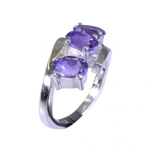 Buy Riyo Amethyst Wholesaler Custom Silver Ring Sz 5.5 Srame5.5-2008 online