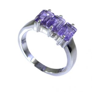Buy Riyo Amethyst Silver Name Jewelry Ladies Silver Ring Sz 6 Srame6-2017 online