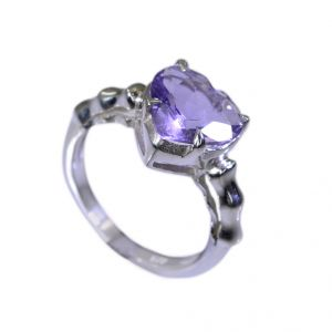 Buy Riyo Amethyst Silver Online Jewellery Large Silver Ring Sz 6 Srame6-2018 online