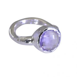 Buy Riyo Amethyst Silver Personalised Jewellery Oxidized Silver Ring Sz 6 Srame6-2021 online
