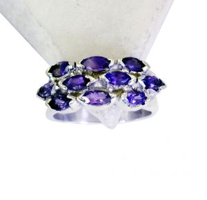 Buy Riyo Amethyst Wholesale 925 Silver Twisted Silver Ring Sz 6 Srame6-2079 online
