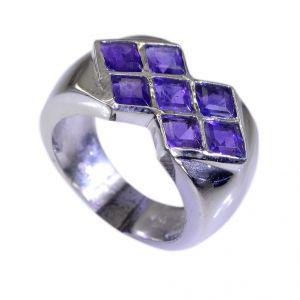 Buy Riyo Amethyst Silver Prom Jewellery Ring Silver Sz 6.5 Srame6.5-2024 online