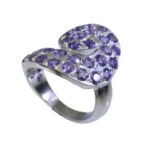 Buy Riyo Amethyst Silver Sensations Jewelry Silver Dome Ring Sz 6.5 Srame6.5-2029 online
