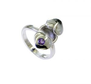 Buy Riyo Amethyst Silver Jewelry Sets Mori Ring Sz 6.5 Srame6.5-2156 online
