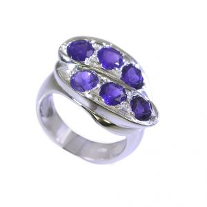 Buy Riyo Purple Amethyst 925 Solid Sterling Silver Exceptional Ring Srame65-2190 online
