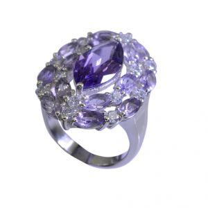 Buy Riyo Amethyst Silver Vintage Jewelry Silver Love Ring Sz 7 Srame7-2038 online