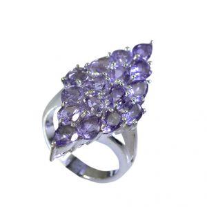 Buy Riyo Amethyst Silver Wedding Jewellery Silver Mesh Ring Sz 7 Srame7-2039 online
