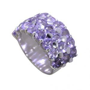 Buy Riyo Amethyst Solid Silver Jewelry Silver Ring Designs Sz 7 Srame7-2049 online