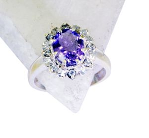 Buy Riyo Amethyst Sterling Silver Regards Ring Jewelry Sz 7 Srame7-2103 online