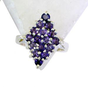Buy Riyo Amethyst 0.925 Solid Silver Wedding Bands Jewelry Sz 7 Srame7-2108 online