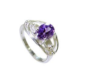 Buy Riyo Amethyst Silver Jewellery Sets Purity Ring Jewelry Sz 7.5 Srame7.5-2153 online