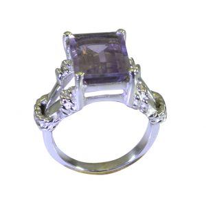 Buy Riyo Purple Amethyst 925 Solid Sterling Silver Exquisite Ring Srame75-2182 online