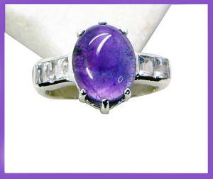 Buy Riyo Amethyst 925e Silver Jewelry List Mourning Ring Jewellery Sz 8 Srame8-2116 online
