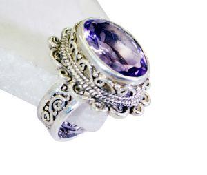 Buy Riyo Amethyst Baby Silver Jewellery Modern Ring Jewelry Sz 8 Srame8-2126 online