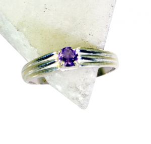 Buy Riyo Amethyst Bargain Silver Jewellery Guard Ring Jewellery Sz 8 Srame8-2127 online