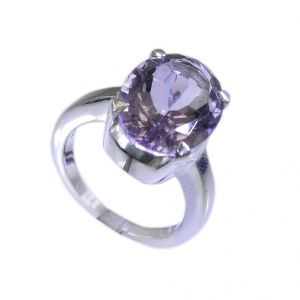 Buy Riyo Purple Amethyst 925 Solid Sterling Silver Fashionable Ring Srame85-2192 online