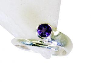 Buy Riyo Amethyst Brushed Silver Jewellery Gimmal Ring Sz 9 Srame9-2139 online