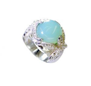 Buy Riyo Blue Chalcedony Designer Silver Jewelry Ring Silver 925 Sz 7 Srbch7-8008 online