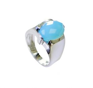 Buy Riyo Blue Chalcedony Discount Silver Jewelry Silver Band Ring Sz 7 Srbch7-8010 online