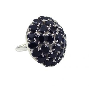 Buy Riyo A Black Onyx 925 Solid Sterling Silver Finishedwith Ring Srbon55-6040 online