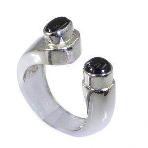 Buy Riyo Black Onyx Funky Silver Jewellery Silver Ring For Women Sz 7.5 Srbon7.5-6025 online