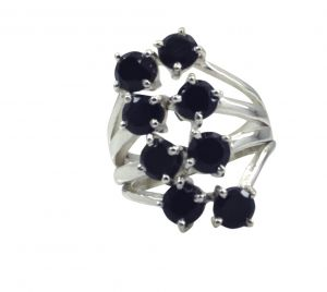 Buy Riyo A Black Onyx 925 Solid Sterling Silver Gorgeous Ring Srbon90-6042 online
