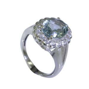 Buy Riyo Blue Topaz Gold And Silver Jewellery Silver Sister Ring Sz 5 Srbto5-10001 online