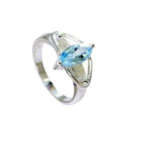Buy Riyo Blue Topaz Silver Chunky Jewellery Big Silver Ring Sz 5.5 Srbto5.5-10104 online