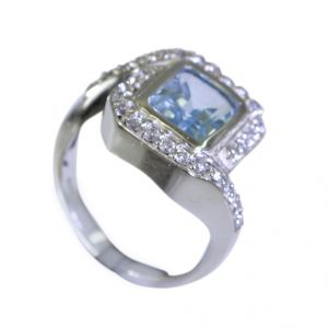Buy Riyo Blue Topaz How To Make Silver Jewellery Fashion Ring Sz 7 Srbto7-10025 online