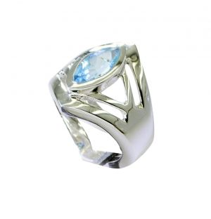 Buy Riyo Blue Topaz Silver City Jewelry Braided Silver Ring Sz 7 Srbto7-10105 online