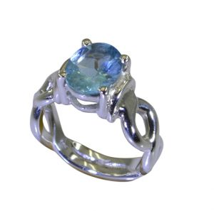 Buy Riyo A Blue Topaz 925 Solid Sterling Silver Hand Finished Ring Srbto70-10108 online