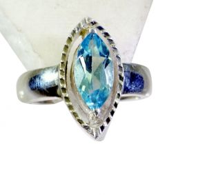 Buy Riyo Blue Topaz Quality Silver Jewelry Friendship Ring Sz 8 Srbto8-10076 online