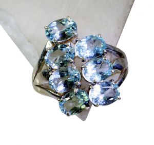 Buy Riyo Blue Topaz Silver 925 Jewelry Sports Ring Sz 8 Srbto8-10085 online