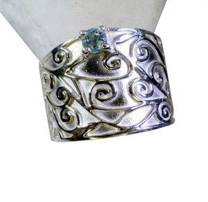 Buy Riyo Blue Topaz Silver Gemstone Jewelry Wedding Bands Sz 8 Srbto8-10087 online