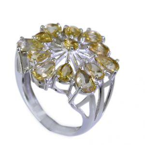 Buy Riyo Citrine Silver Designer Jewelry Engraved Silver Ring Sz 6 Srcit6-14007 online