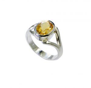 Buy Riyo Citrine Silver S Silver Twist Ring Sz 6 Srcit6-14058 online