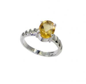 Buy Riyo Citrine Silver Jewellery Set Thick Silver Ring Sz 6 Srcit6-14064 online