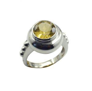 Buy Riyo Yellow Citrine 925 Solid Sterling Silver Lovely Ring Srcit80-14087 online