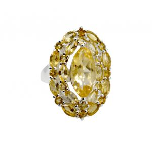 Buy Riyo Golden Citrine 925 Solid Sterling Silver Period Ring Srcit90-14076 online