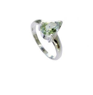 Buy Riyo Green Amethyst Silver Jewelry Wholesale India Antique Silver Ring Sz 5.5 Srgam5.5-28067 online