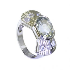 Buy Riyo Green Amethyst Silver Jewellery With Stones Gemstone Sz 6 Srgam6-28008 online
