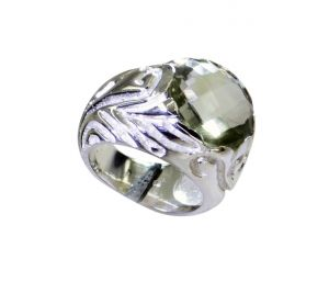 Buy Riyo Green Amethyst Silver Jewelry Tags Purity Ring Jewelry Sz 6 Srgam6-28064 online
