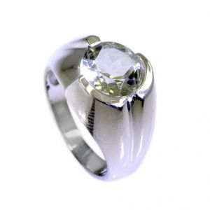 Buy Riyo Green Amethyst Silver Jewelry Catalog Signet Ring Jewelry Sz 6.5 Srgam6.5-28017 online