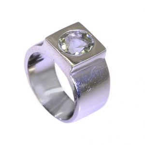 Buy Riyo Green Amethyst Silver Jewelry Companies Sports Ring Sz 6.5 Srgam6.5-28019 online