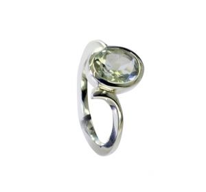 Buy Riyo Green Amethyst Silver Jewelry Wholesaler Antique Silver Ring Sz 6.5 Srgam6.5-28068 online