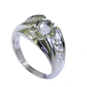 Buy Riyo Green Amethyst Silver Jewelry Distributors Cocktail Ring Sz 7 Srgam7-28027 online