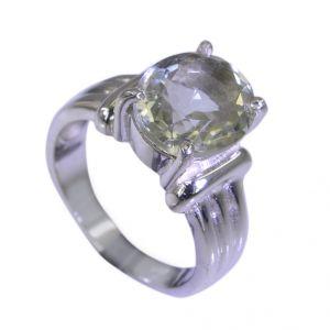 Buy Riyo Green Amethyst Silver Jewelry Earrings Mourning Ring Sz 7 Srgam7-28028 online