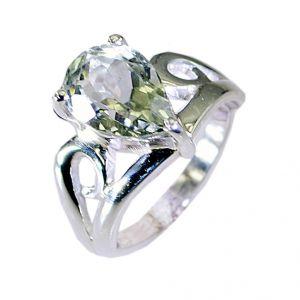 Buy Riyo Green Amethyst Silver Jewelry Home Sales Guard Ring Sz 7 Srgam7-28039 online